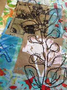 4 of 5 Blue Kiss a mixed media piece by janeville on Etsy