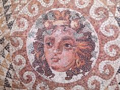 Mosaic from a Roman villa with Dionysus in its center, 2nd-3rd century AD, Museum of Corinth