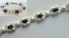 Beaded wedding jewelry pattern. How to make an elegant bracelet (necklace)