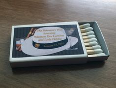 Matchboxes:  Fedora & Cigar Havana themed matches. Other options available including with Mojito.