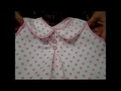 DIY - como fazer blusinha com gola para bebê passo a passo - YouTube