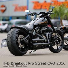 #thunderbike #customized #harleydavidson #softail #breakout cvo 2016 with our fender kit, 260mm ... #harleydavidsonsoftailbreakout #harleydavidsonbreakout2016