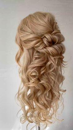 Loose Braid Hairstyles, Bridal Hairstyles With Braids, Formal Hairstyles For Long Hair, Hairdo For Long Hair, Fancy Hairstyles, Loose Braids, Hair And Makeup Tips, Wedding Hair And Makeup, Boho Wedding Hair