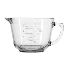 Anchor Hocking Clear Glass 2 qt. Batter Bowl