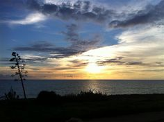 Sunset on the sea near Modica