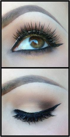 This is exactly how I do my daily makeup only with no kiner except for powder liner halfway.
