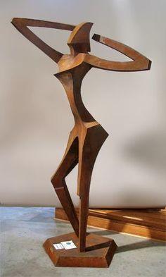 Association of Sculptors of Victoria Angel Sculpture, Driftwood Sculpture, Sculpture Art, Geometric Sculpture, Abstract Sculpture, Corten Steel, Metal Sculptures, Wood Carving, Ornament