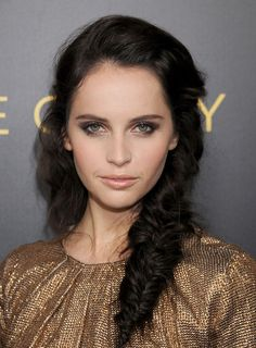 Felicity Jones' fishtail braid