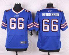 437f6e5eb Buffalo Bills  66 Seantrel Henderson Royal Blue Team Color NFL Elite Men s  Jersey Nike Men