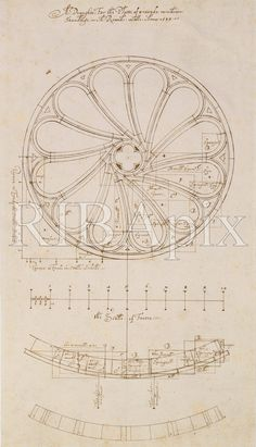 ARCHITECTURE: This is one of the earliest architectural drawings in the RIBA Collections. It's a design for a Rose Window by Robert Smythson drawn in 1599. Smythson was one of Britain's first professional architects.