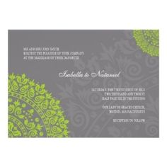 grey and green wedding |  Charcoal Gray And Green Damask Wedding ...