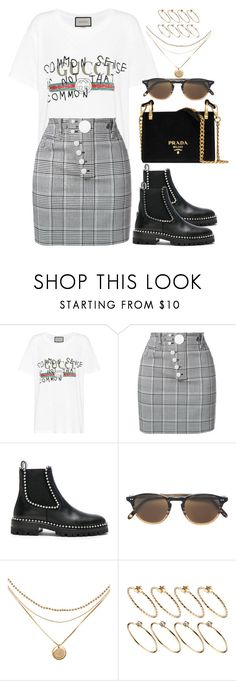 """""""Untitled #1347"""" by bruna-linda-12 ❤ liked on Polyvore featuring Gucci, Alexander Wang, Garrett Leight, ASOS and Prada"""