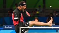 Armless table tennis player Ibrahim Hamadtou epitomizes the Paralympics spirit
