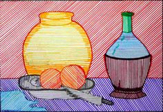 PRÁCTICAS TEMA2 Línea y textura | . Art Drawings For Kids, Easy Drawings, Art For Kids, Arte Elemental, Basic Painting, 5th Grade Art, School Art Projects, Collaborative Art, Art Lessons Elementary