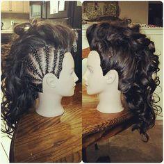 #fauxhawk #cornrows #braided #braids #bigcurls #curls #longhair #80s #hair #hairstyle #milaninstitute #fresno #fresnostylist #hairstylist #myscconnection #loveit #hairstylebyjopresly #hairbyjopresly