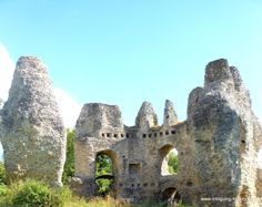Odiham Castle, built on a bend of the River Whitewater and the place from where King John rode out in 1215 to sign the Magna Carta.