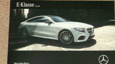 Gewoon al in de folder bij de dealer: gloednieuwe Mercedes E-klasse Coupé