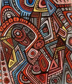 Joseph Amedokpo 'Water deities of Oshun' 2011 - oil on canvas. From CONTEMPORARY AFRICAN ART GALLERY