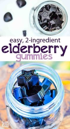 Kids (and adults) love these SUPER easy elderberry gummies! Made with your stash… Kids (and adults) love these SUPER easy elderberry gummies! Made with your stash of homemade elderberry syrup and gelatin, this recipe is so simple to make. Elderberry Tea, Elderberry Gummies, Elderberry Cuttings, Elderberry Benefits, Cold Remedies, Herbal Remedies, Natural Remedies, Health Remedies, Gummy Molds