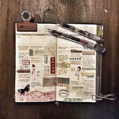 Week 9 . #midoritravelersnotebook #travelersnotebook #travelersnote #notebook #planner #plannerpages #diary #journal #agenda #fountainpen #lamysafari #pilotprera #stationery