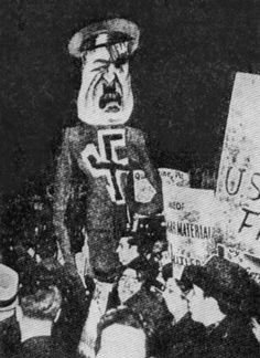 27 Mar 33: An overflow crowd of 55,000, mostly Jews, attend a protest rally against Adolf Hitler at Madison Square Garden in New York City. Parallel events are are held in Baltimore, Boston, Chicago, Cleveland, Philadelphia and 70 other locations. Jewish leaders in America will soon conclude that these protests might be making a bad situation for European Jews even worse, and will call off further public demonstrations. #WWII #History