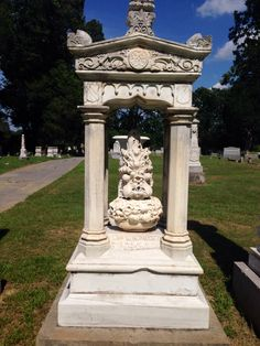 Beautiful tombstone from 1857. Hillcrest Cemetery, Holly Springs, Miss.