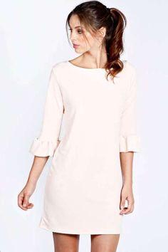 Jessica Frill Sleeve Shift Dress