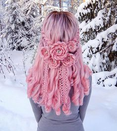17 Best interesting braided rose hair designs 3 is part of braids - braids Pretty Hairstyles, Braided Hairstyles, Style Hairstyle, Amazing Hairstyles, Pretty Hair Color, Aesthetic Hair, Hair Dye Colors, Hair Art, Hair Designs