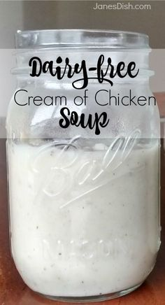 DAIRY-FREE CREAM OF CHICKEN SOUP! What's a casserole without cream-of-something soup? Look no further for an EASY and AFFORDABLE substitute for the canned staple.