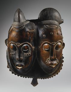 Double mask, Baule, Ivory Coast