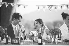 wedding bunting banner :: wedding decorations :: wedding reception :: bride and groom table :: Wedding Pins, Post Wedding, Wedding Looks, Farm Wedding, Dream Wedding, Wedding Bells, Wedding Reception, Wedding Ideas, Wedding Photography Inspiration