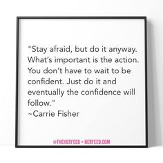 Words to live by... from a woman we've always admired. #CarrieFisher #Quote
