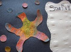 sand paper and oil pastels! this website has lots of fun craft ideas