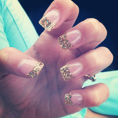 gold tipped french manicure idea