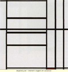 Piet Mondrian. Composition / Compositie. Olga's Gallery.