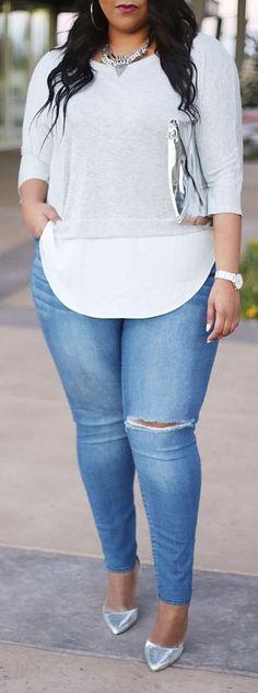 Curvy Summer Fashion for Women - #curvy #plus #size #outfits #fashion #PlusSize