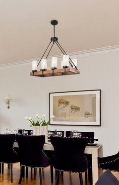 Laluz Wooden Chandeliers Rustic Pendant Lighting 6Light Kitchen Prepossessing Kitchen Chandeliers Review