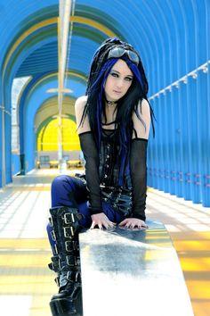 My favorite cyber-goth look. Alternative Model - SaphirNoir