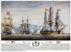 "Battle of Valparaiso HMS ""Cherub"", USS ""Essex"", HMS ""Phoebe"""