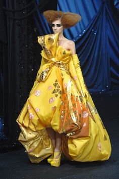Olga Sherer at Christian Dior Haute Couture Spring by John Galliano.