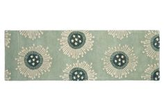 "One Kings Lane - Runners for Every Room - 2'6""x8' Cash Runner, Sage/Multi"