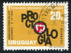 URUGUAY - CIRCA 1963: stamp printed by Uruguay, shows Wheat Emblem