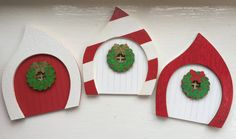 Little Christmas, Christmas Elf, Christmas Crafts, Elf Door, Winter Fairy, Fairy Doors, Fairy Houses, Uk Shop, Clay Crafts