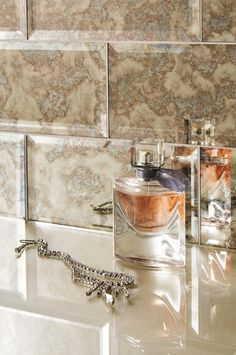 Glass bevel metro/subway tiles feature a striking Antique Mirror effect for adding a touch of glamour. www.originalstyle.com