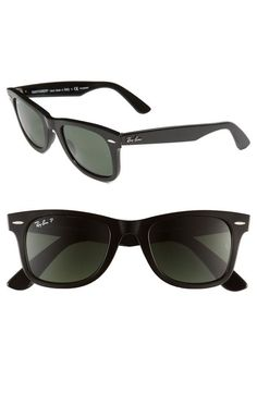 f526c58964 Ray-Ban  Classic Wayfarer  Polarized Sunglasses Logo-embellished temples  provide a polished finish for throwback Ray-Ban outfitted with  glare-reducing ...