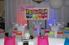 iPod Themed Bat Mitzvah Event Decor Neon Teen Area Party Perfect Boca Raton, FL 1(561)994-8833