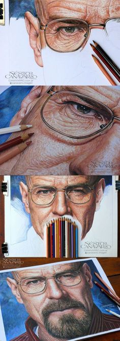 Breaking Bad, Hyperrealism In Crayon on imgfave