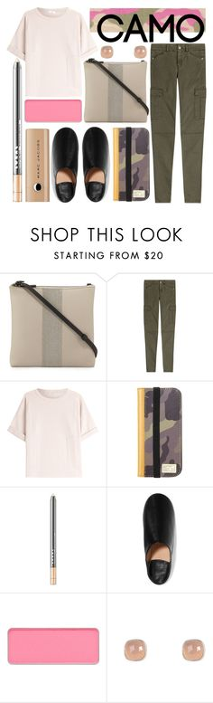 """modern jungle"" by foundlostme ❤ liked on Polyvore featuring Brunello Cucinelli, 7 For All Mankind, HEX, LORAC, Acne Studios, shu uemura, Latelita, Marc Jacobs, modern and cargopants"