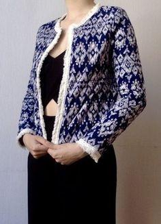 A vendre sur  vintedfrance  veste  penneys  bleumarine  motifs  printemps f65e1a30858