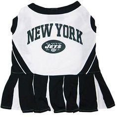 New York Jets NFL Cheerleader Dress For Dogs - Size Medium